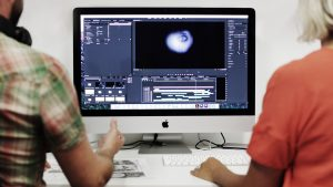 Editing creative production on Premiere Pro, iMac