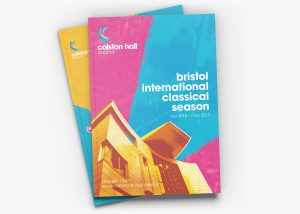 Colston Hall classical season, programme design artwork.