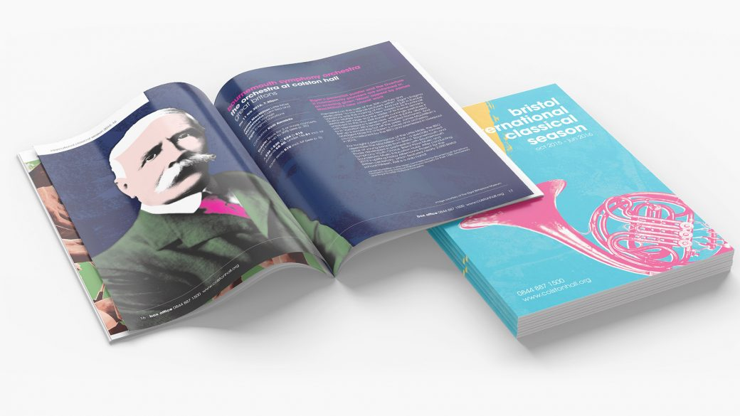 Colston Hall classical season, brochure design.