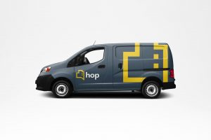 HOP branding on van