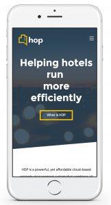 HOP responsive website design iPhone