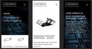 Screen shot of Laser Terrain website on mobile phone