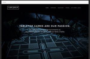 Screen shot of Laser Terrain website