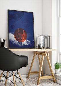 Rocket ship artwork Colston Hall